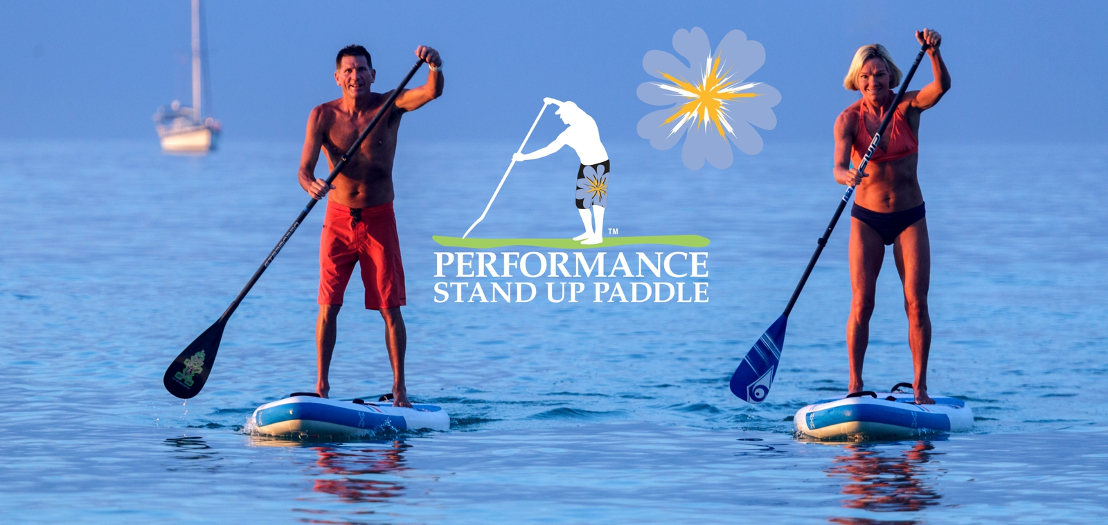 Shane and Mia professional SUP paddlers on the ocean SUP paddling
